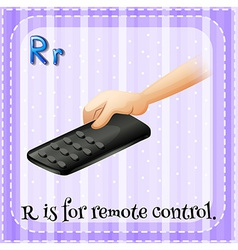 A letter r for remote control vector