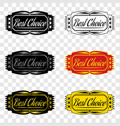 best choice badge of best choice vector image