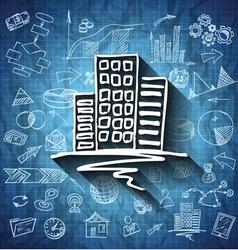 Blueprint business icon vector