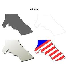 Clinton map icon set vector