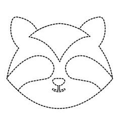Cute and tender raccoon head character vector