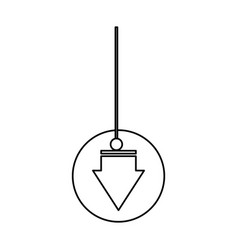 Decorative pendant vector