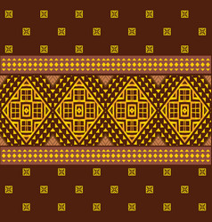 ethnic ornamental geometric pattern vector image vector image