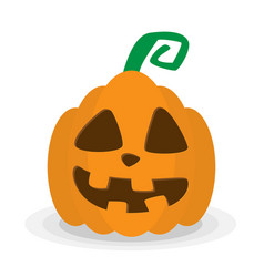 Halloween pumpkin icon isolated evil pumkin vector