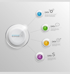 Infographic bussiness vector