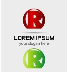 Letter r logo icon vector