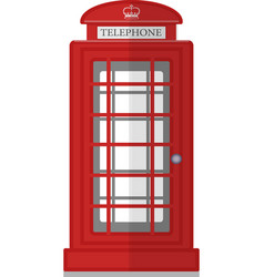 london phone booth isolated on white photo vector image vector image