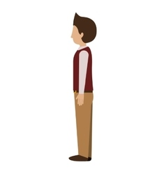Man standing with left profile blazer vector