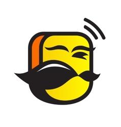 Mobile head logo vector image vector image