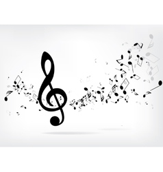 Musical abstract background vector image vector image