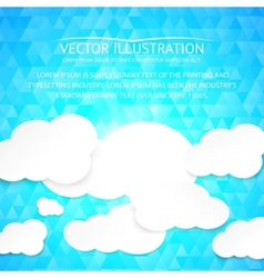 Paper clouds with blue background vector image vector image