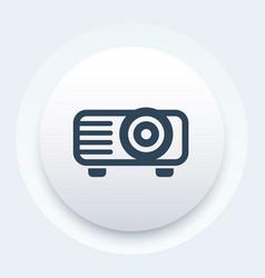 projector icon video equipment symbol vector image vector image