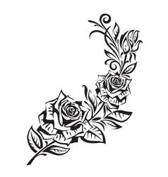 rosebush vector image vector image