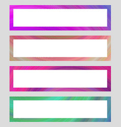 Set of colorful banner frames vector image vector image