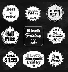 Set of labels with sale advertisement text vector