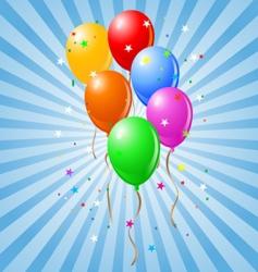 shiny balloons vector image vector image