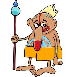 Tribal shaman fantasy character vector