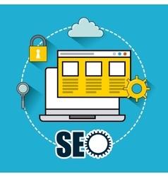 seo technology design vector image