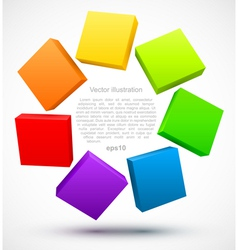 Colored plates 3D vector image
