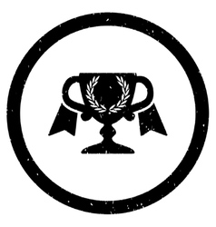 Award cup rounded grainy icon vector