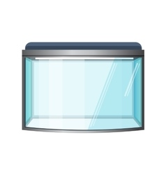 Aquarium isolated on white Fish tank vector image
