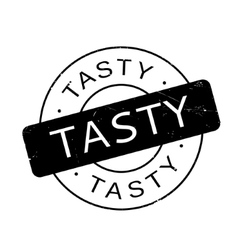 Tasty rubber stamp vector