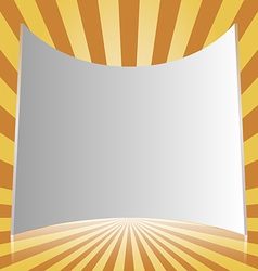 White projection screen vector