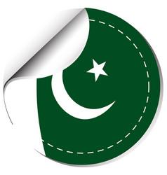Sticker design for pakistan vector