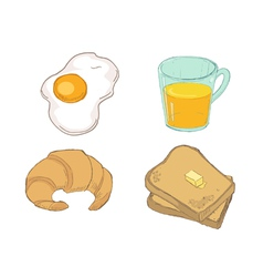Drawn breakfast vector