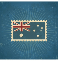 Retro australia flag postage stamp vector