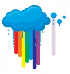 clouds rainbow vector image