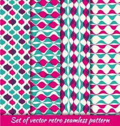 Vintage retro seamless pattern set vector image