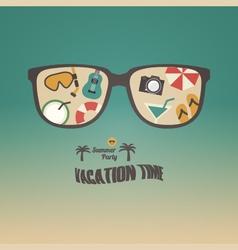 284summer sunglasses vector