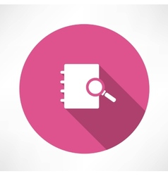 Sear The in notebook icon vector image