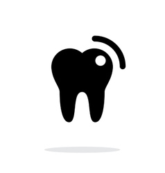 Tooth with caries icon vector