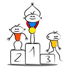 Winning podium vector image