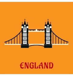 Flat icon of tower bridge in london vector