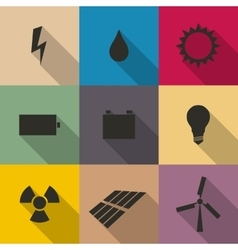 Icons energy vector
