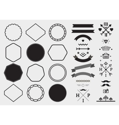 design template set collection for making vector image