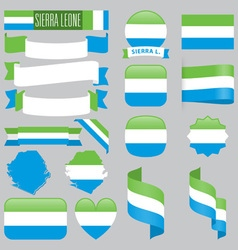 Sierra leone flags vector