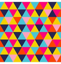 Colorful triangle geometric seamless pattern vector