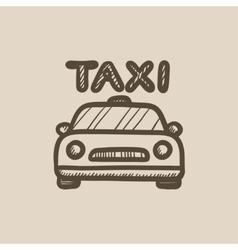Taxi sketch icon vector