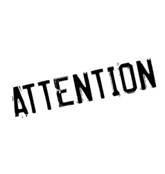 Attention rubber stamp vector