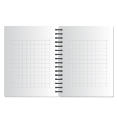 Background from notebook in square on the black vector image vector image