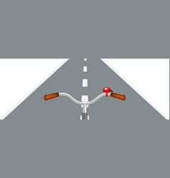 bicycle handlebar and road vector image