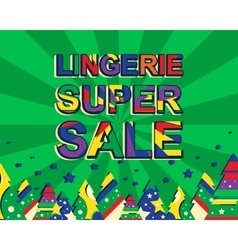 Big winter sale poster with lingerie super sale vector