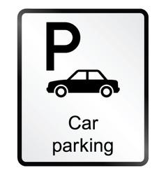 Car parking information sign vector