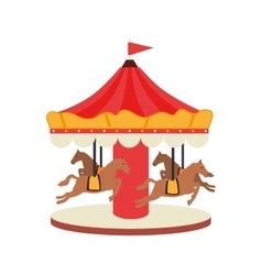 Carrousel fair attraction icon vector