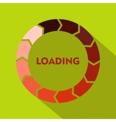 Circle loading icon flat style vector