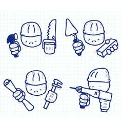 construction professions vector image